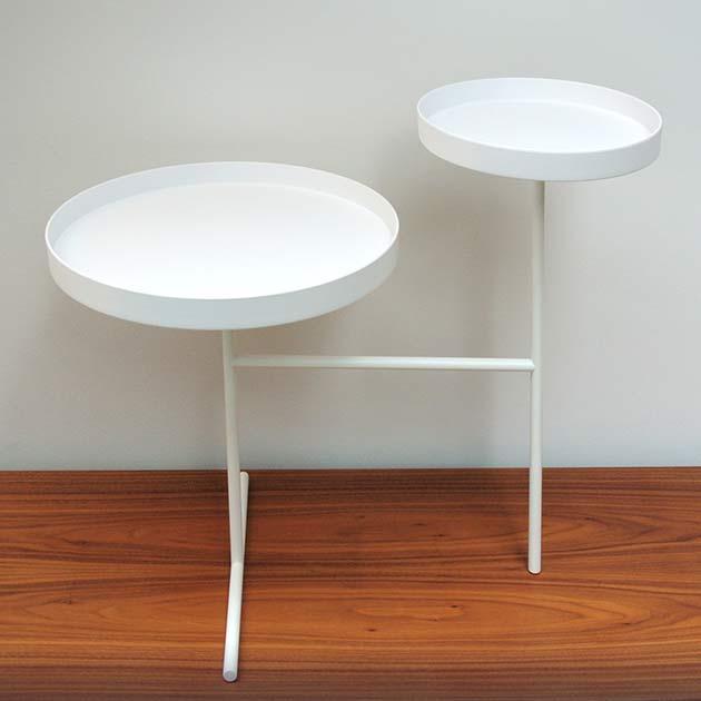 Radius-double-tray-sidetable-Masinterieur-aanbieding-opruiming
