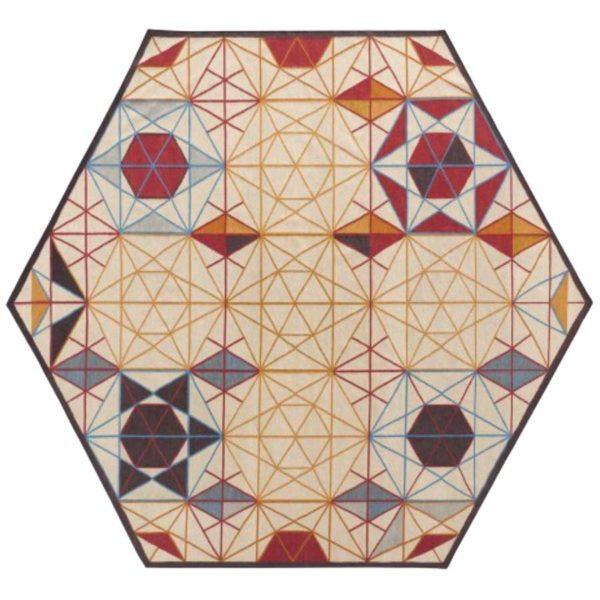 """Gan Rugs Karpet """"Hexa"""" Kelim (gereserveerd)"""