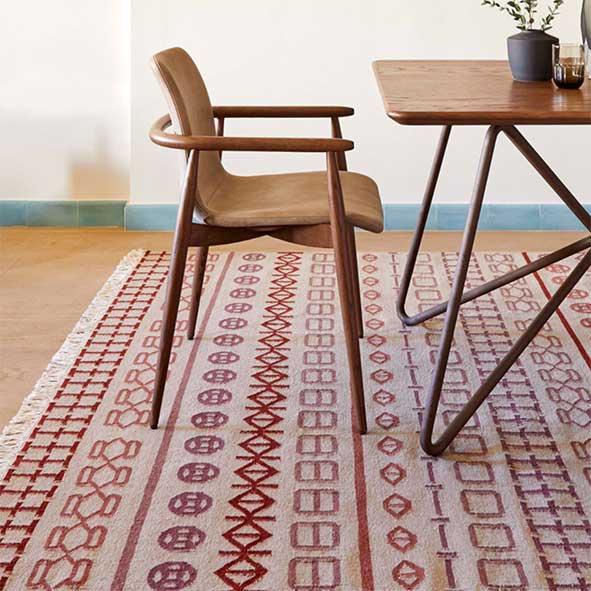 """Gan Rugs Kelim karpet """"Naidu"""" in 100% wol (Verkocht)"""