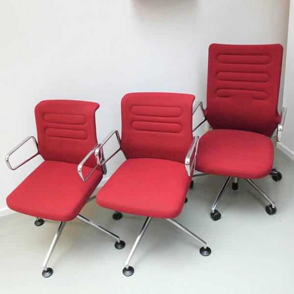 "Vitra ""AC 5"" Meet set bureaustoel met 2 x vergaderstoel"