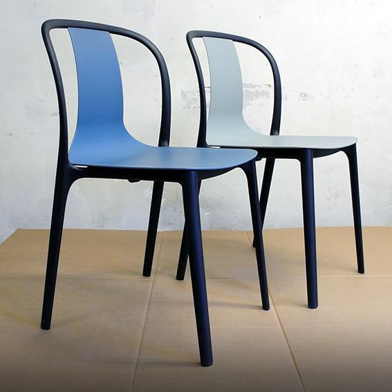 "Vitra ""Belleville"" chair set 4 stuks VERKOCHT"